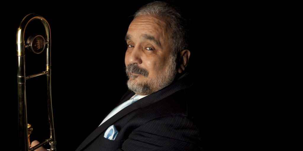 """Willie Colon poses for a portrait in Mexico City, Thursday, March 5, 2009. The salsa musician is promoting his newest work called """"El Malo Vol II: Prisioneros del Mambo,"""" or """"The Bad One Vol. II: Prisoners of Mambo."""" (AP Photo/Gregory Bull)"""