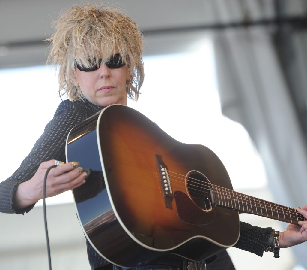 NEW ORLEANS, LA - MAY 05: Lucinda Williams performs during the 2011 New Orleans Jazz & Heritage Festival - Day 4 presented by Shell at The Fair Grounds Race Course on May 5, 2011 in New Orleans, Louisiana. (Photo by Rick Diamond/Getty Images)