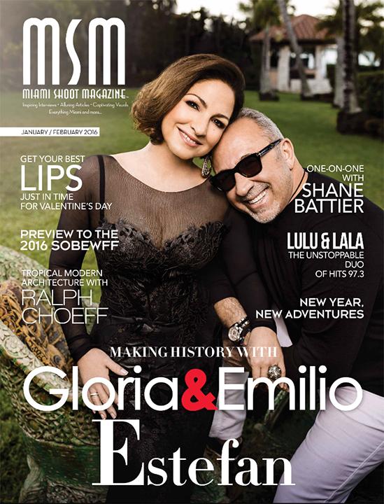MSM-Miami-Shoot-Magazine-JanFeb2016-Cover-Gloria-Emilio-Estefan