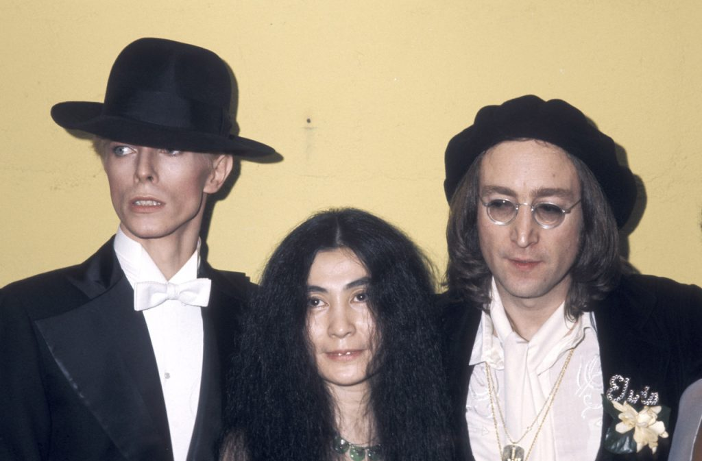 David Bowie, Yoko Ono and John Lennon (Photo by Ron Galella/WireImage)
