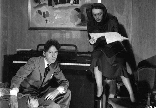 Con Jean Cocteau.