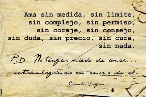 Chavela Vargas Frase