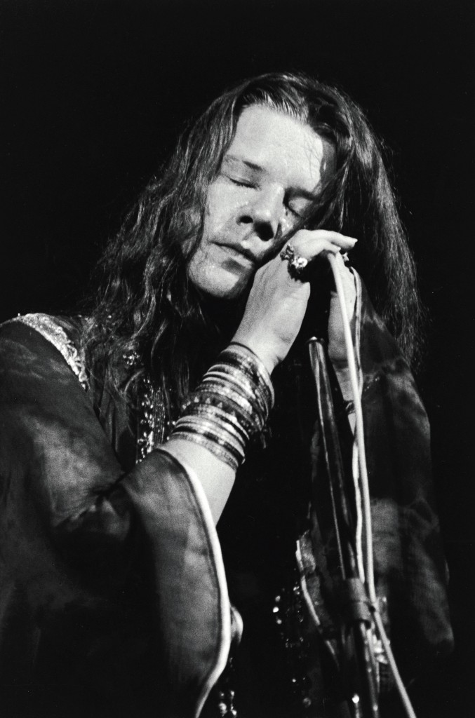 Janis Joplin With Eyes Closed During Performance