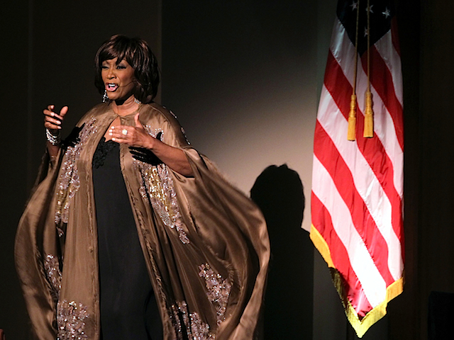 """WASHINGTON, DC - SEPTEMBER 11: Singer Patti LaBelle performs during the """"A Concert For Hope"""" event, hosted by Washington National Cathedral, to mark the10th anniversary of the 9/11 terrorist attacks September 11, 2011 at the Kennedy Center in Washington, DC. The United States is commemorating the 10th anniversary of the terrorist attacks of September 11, 2001 which resulted of nearly 3,000 people after two hijacked planes crashed into the World Trade Center, one into the Pentagon in Arlington, Virginia and one crash landed in Shanksville, Pennsylvania. (Photo by Alex Wong/Getty Images)"""
