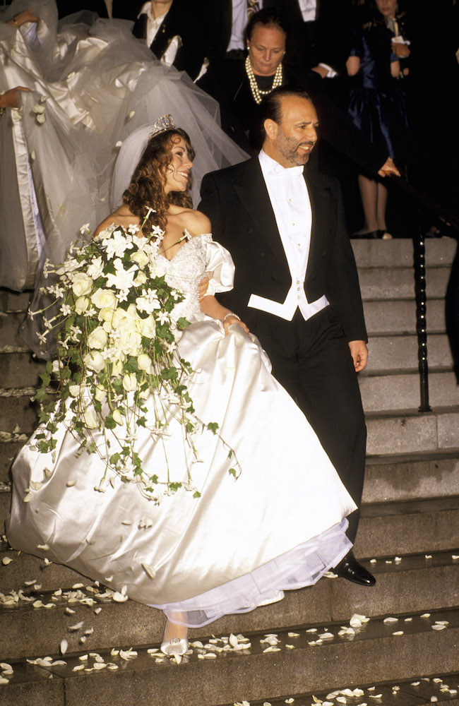 6/5/93 New York City ST. Thomas Episcopal Church/Metropolitan Club Wedding Mariah Carey to Thomas Mattola Mariah Carey & Thomas Mattola CR: RON GALELLA