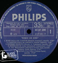 Mercedes Sosa-Disco de Oro-Philips-6347208-A