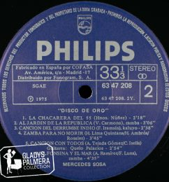 Mercedes Sosa-Disco de Oro-Philips-6347208-B