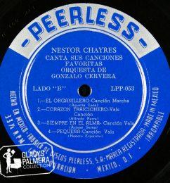 Nestor Chayres-Canta sus canciones favoritas orquesta de Gonzalo Cervera-Peerless-LPP053-B