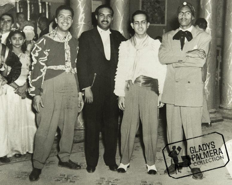 """De izquierda a derecha: Héctor """"Morrocoy"""" Cordero, Tomás Brans, César Rodríguez y Víctor Piñero."""
