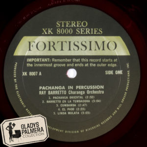 Ray Baretto y su orquesta.Pachanga in Percussion Fortissimo-XK8007-A-0117