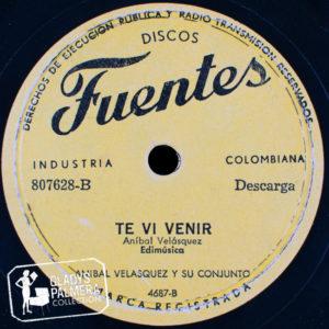 Aníbal Velásquez y su Conjunto-Fuentes-807628-B-Te vi venir